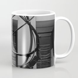 NYC Atlas in Rockefeller Center Statue in Black and White Coffee Mug