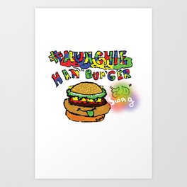 #munchie Art Print