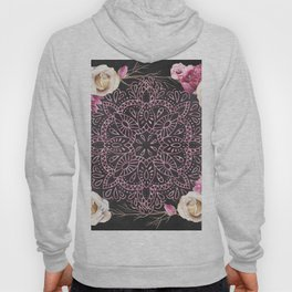 Mandala Night Rose Gold Garden Pink Black Yellow Hoody