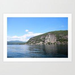 Roger's Rock on Lake George in the Adirondacks Art Print