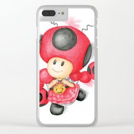 Toadette Ladybug Clear iPhone Case