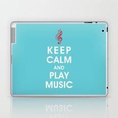 Keep Calm and Play Music Laptop & iPad Skin
