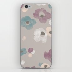 Watercolor Blooms - in Taupe iPhone & iPod Skin