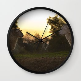 Evening on a countryside Wall Clock