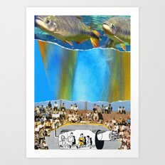Swim With Both Hands On The Ground Art Print
