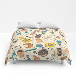 Spicy coffee Comforters