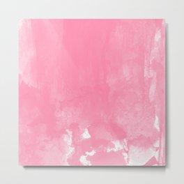 Pink watercolor brush Metal Print