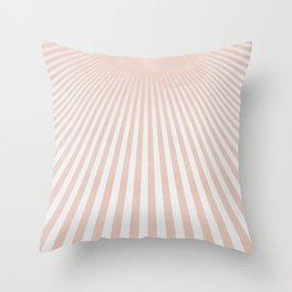Sunrise sunrise - light beams from the sun simple art Throw Pillow