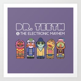 Dr. Teeth & The Electric Mayhem – The Muppets Art Print