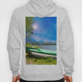 two boats at a lake Hoody