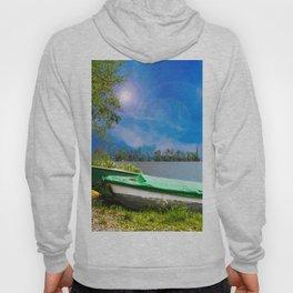 two boats at a lake Hoody