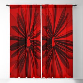 Red Origami Flowers #decor #society6 Blackout Curtain