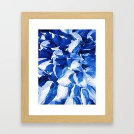 Botanic leafage - cobalt Framed Art Print