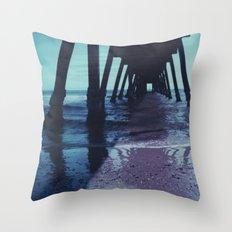Glenelg Pier Throw Pillow