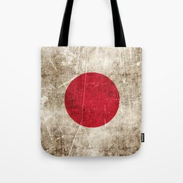 Vintage Aged and Scratched Japanese Flag Tote Bag
