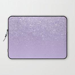 Stylish purple lavender glitter ombre color block Laptop Sleeve