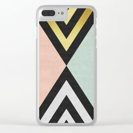 Fashion and gold art Clear iPhone Case