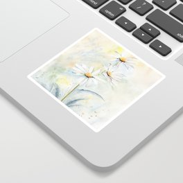 White Daisies Sticker