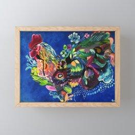 Radiant Rooster Framed Mini Art Print