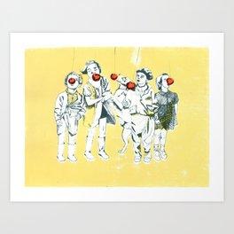 Apple eaters Art Print