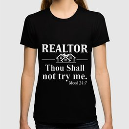 realtor thou shall not try me hipster T-shirt