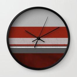 Cozy Maroon Curtains Wall Clock