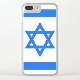 Israel Flag Clear iPhone Case