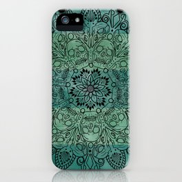 Skulls mandal iPhone Case