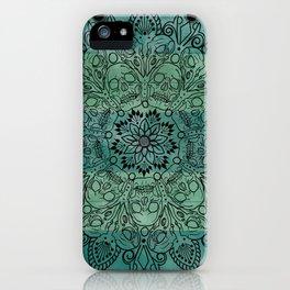 Skulls mandal iPhone Case