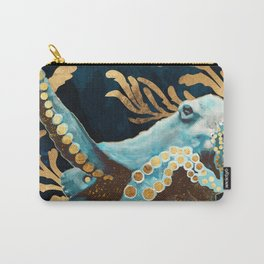 Indigo Octopus Carry-All Pouch