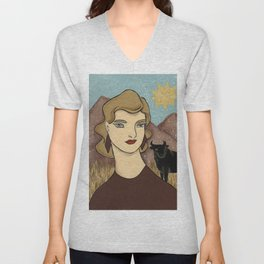 Taurus by Amanda Laurel Atkins Unisex V-Neck