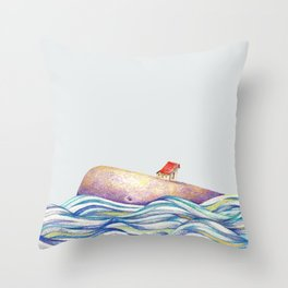 The Whale #1 Throw Pillow