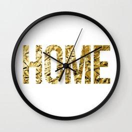 HOME (GOLD FOIL) Wall Clock