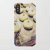 macaron iPhone & iPod Cases featuring macaron by inourgardentoo