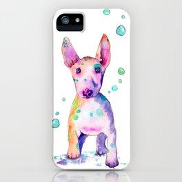 Terrier Bubbles iPhone Case