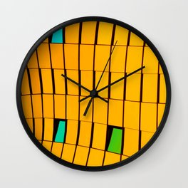 Colors and lines    Urban I Fine Art - Colorful Wall Clock