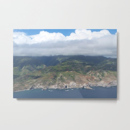 Flying over Hawaii Metal Print