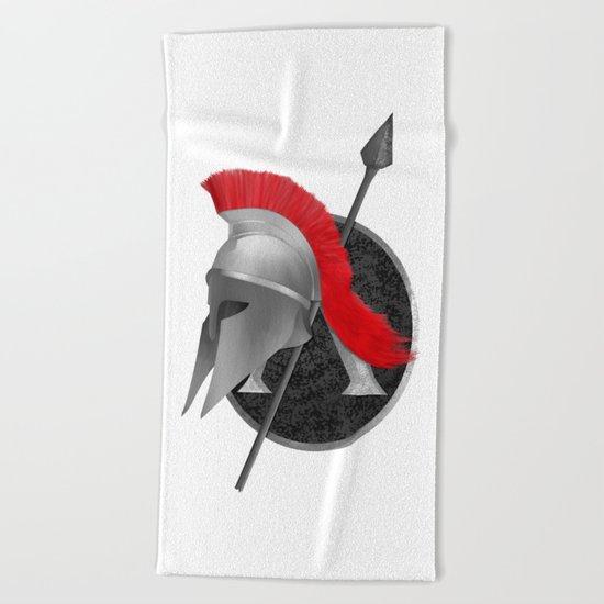 Spartan Helmet Beach Towel