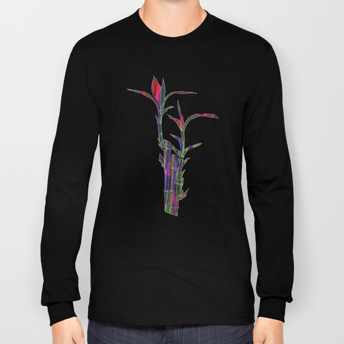 Colored Bamboo Long Sleeve T-shirt