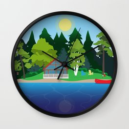 Muskoka Cottage Wall Clock