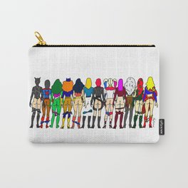 Superhero Butts - Girls - Row Version - Superheroine Carry-All Pouch