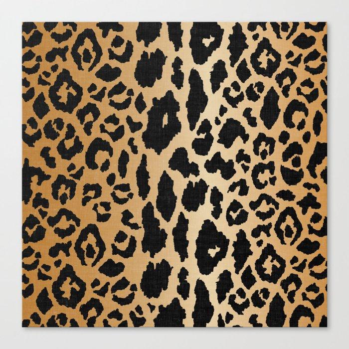 Leopard Print Linen Leinwanddruck