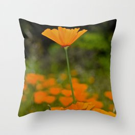 Tall Poppy Throw Pillow