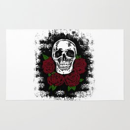 Skull and Rose Rug