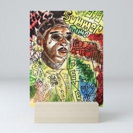 free wurl boss,world boss,dancehall,reggae,jamaica,soca,poster,fan art,art,cool,dope, Mini Art Print