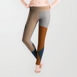 Modern Fall Winter Color Pattern Leggings