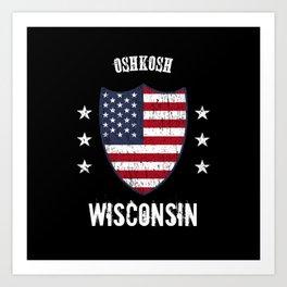 Oshkosh Wisconsin Art Print