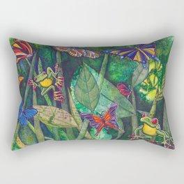 frogs and butterflies Rectangular Pillow