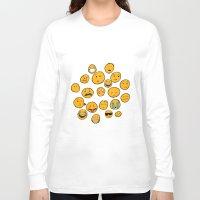 emoji Long Sleeve T-shirts featuring Emoji Family by Jason Travis
