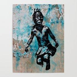 JUMPING CHILD - urban ART Poster